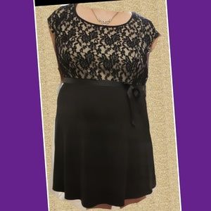 Worn once lacey black dress